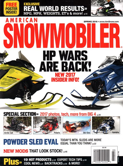 American Snowmobiler Cover - 3/1/2016