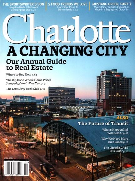 Charlotte Magazine Cover - 4/1/2016