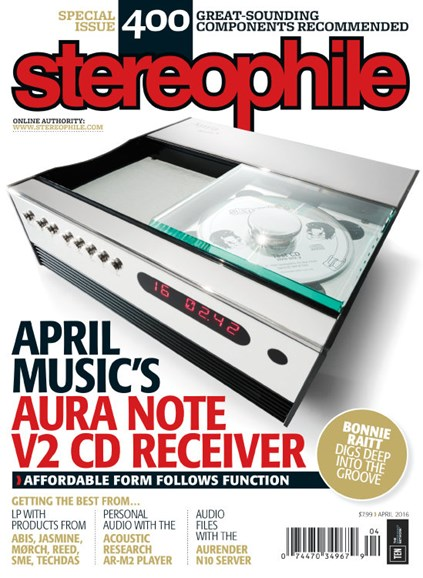 Stereophile Cover - 4/1/2016