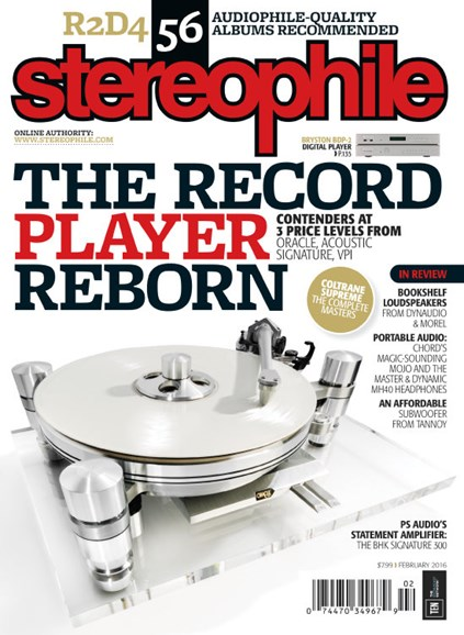 Stereophile Cover - 2/1/2016