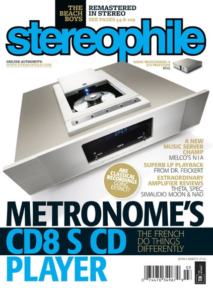 Stereophile Cover - 3/1/2016