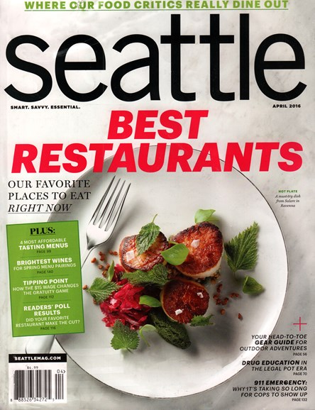 Seattle Magazine Cover - 4/1/2016