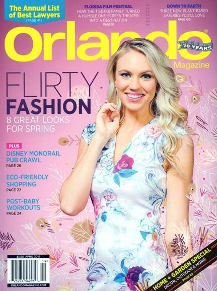 Orlando Magazine Cover - 4/1/2016