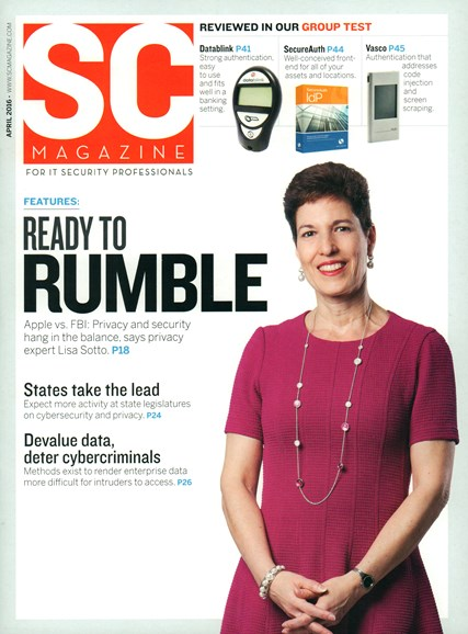 SC Magazine - U.S. edition Cover - 4/1/2016