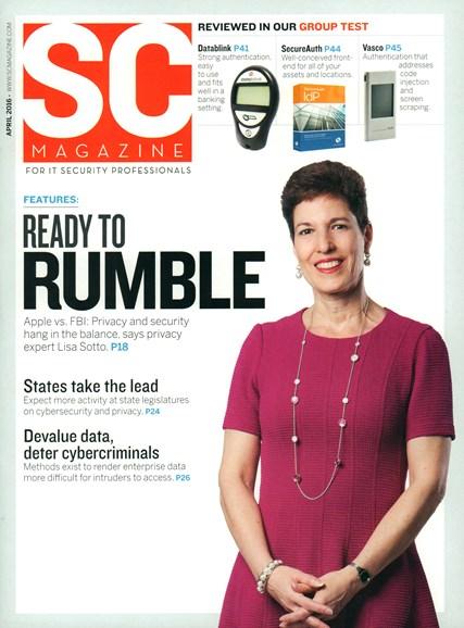 SC Magazine - U.S. edition Cover - 4/1/2016