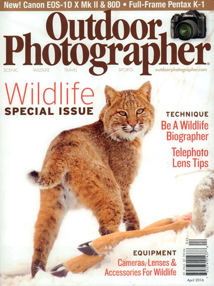 Outdoor Photographer Cover - 4/1/2016