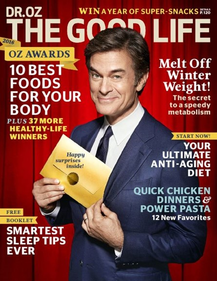 Dr. Oz The Good Life Cover - 3/1/2016