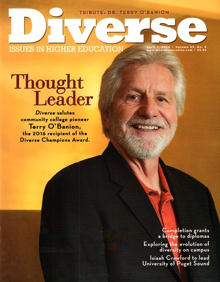 Diverse: Issues In Higher Education Cover - 4/7/2016