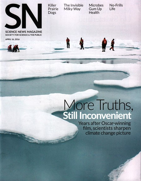 Science News Cover - 4/16/2016