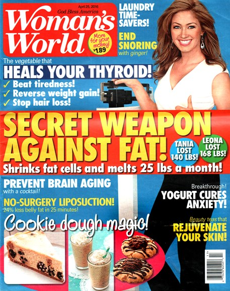 Woman's World Cover - 4/25/2016