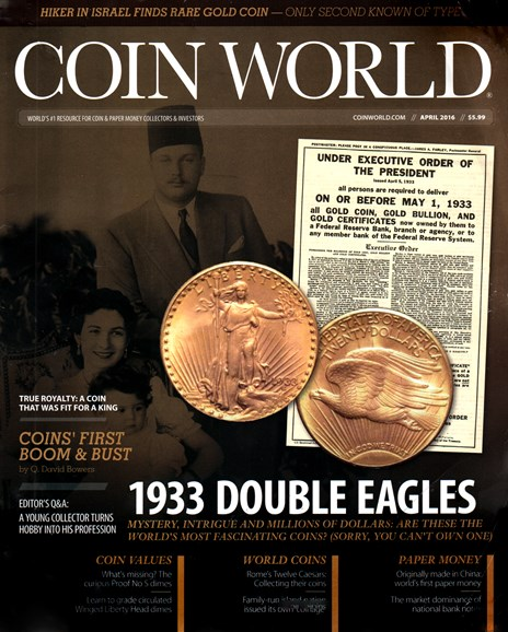 Coin World Weekly Cover - 4/1/2016