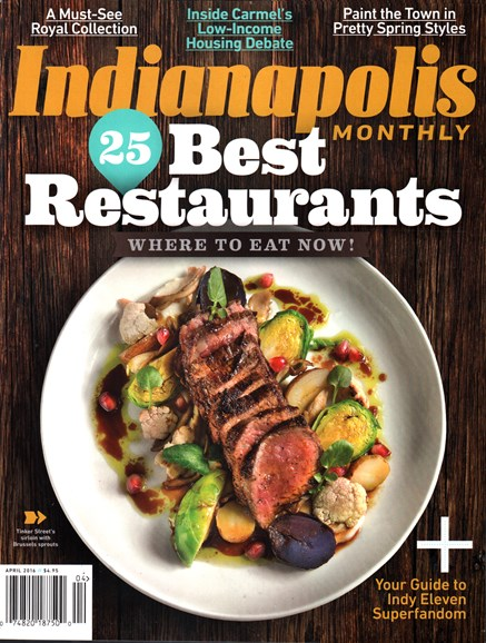 Indianapolis Monthly Cover - 4/1/2016