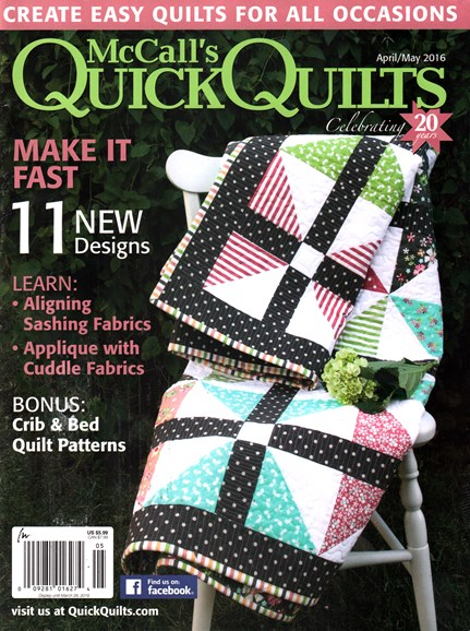 McCall's Quick Quilts Cover - 4/1/2016