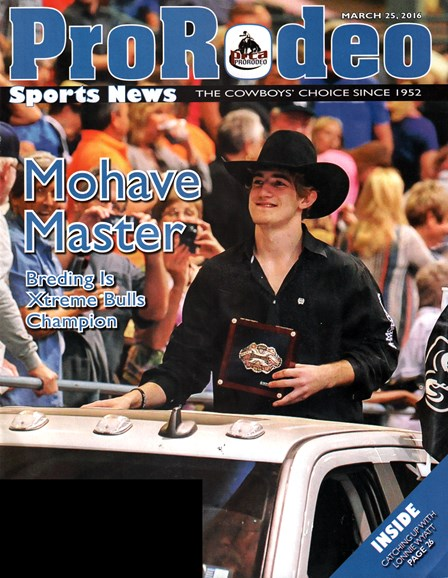 Pro Rodeo Sports News Cover - 3/25/2016