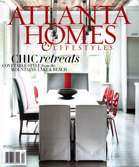 Atlanta Homes & Lifestyles Cover - 4/1/2016