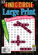 Find and Circle Large Print Magazine 7/1/2016