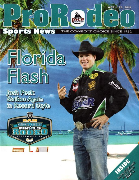 Pro Rodeo Sports News Cover - 4/22/2016