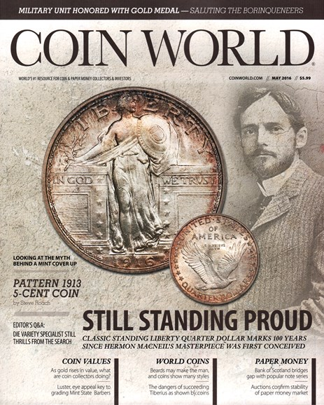Coin World Weekly Cover - 5/1/2016