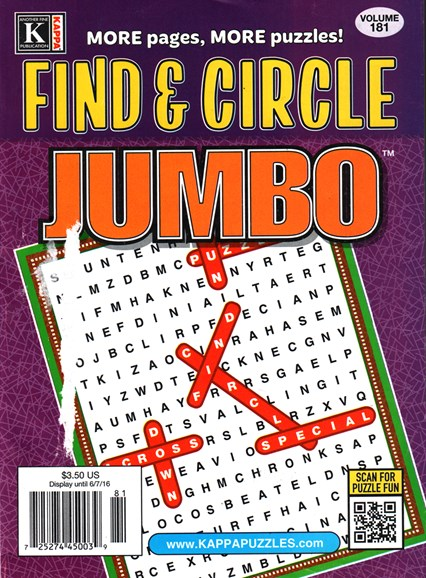 Find & Circle Jumbo Cover - 7/1/2016