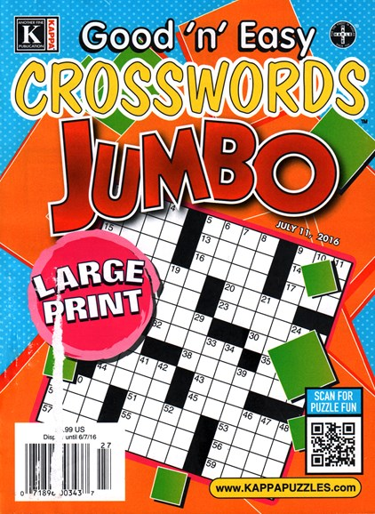 Good N Easy Crosswords Jumbo Cover - 7/11/2016