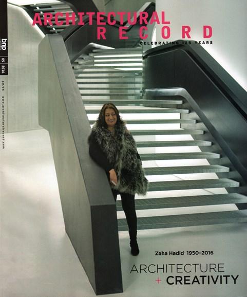Architectural Record Cover - 5/1/2016