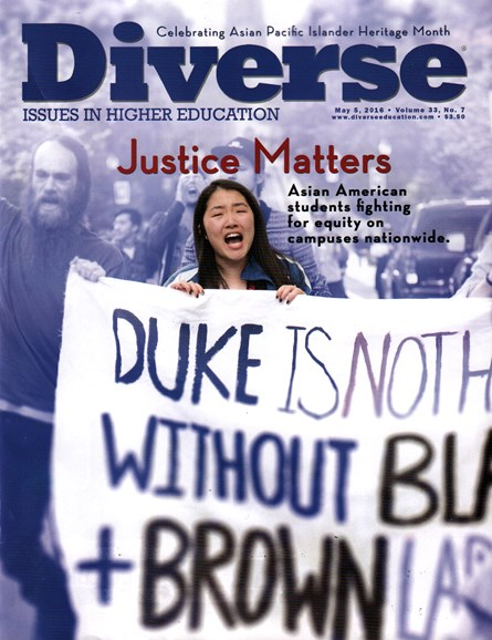 Diverse: Issues In Higher Education Cover - 5/5/2016