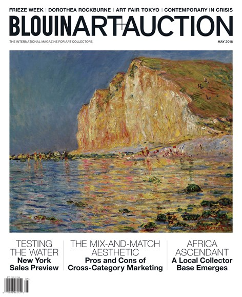 Blouin Art & Auction Cover - 5/1/2016