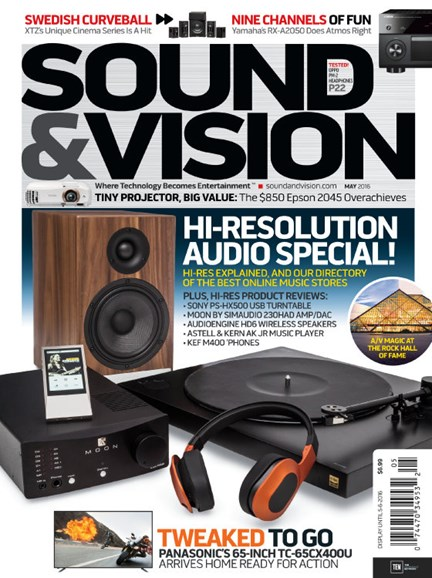 Sound & Vision Cover - 5/1/2016