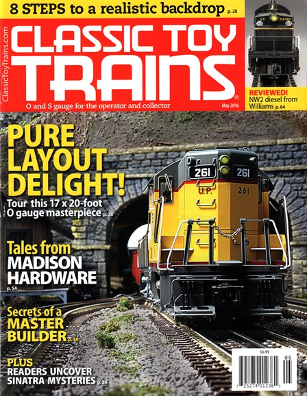 Classic Toy Trains Cover - 5/1/2016