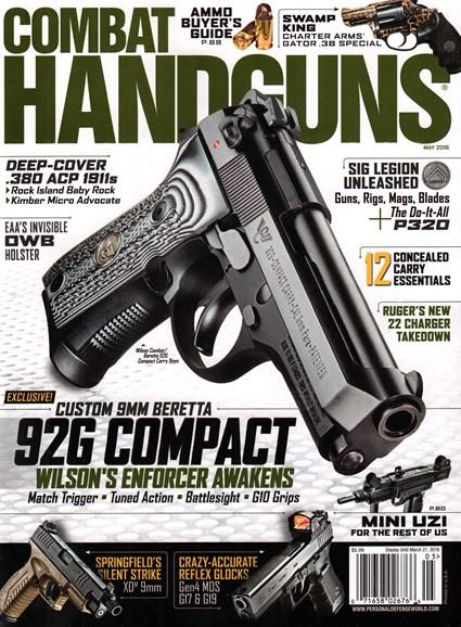 Combat Handguns Cover - 5/1/2016
