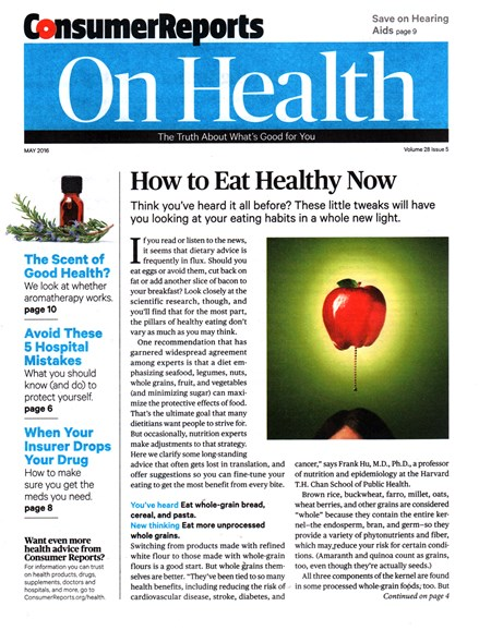Consumer Reports On Health Cover - 5/1/2016