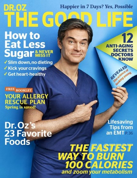 Dr. Oz The Good Life Cover - 5/1/2016