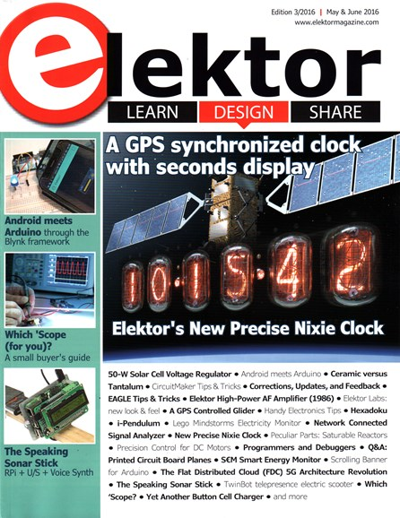 Elektor - North American Edition Cover - 5/1/2016