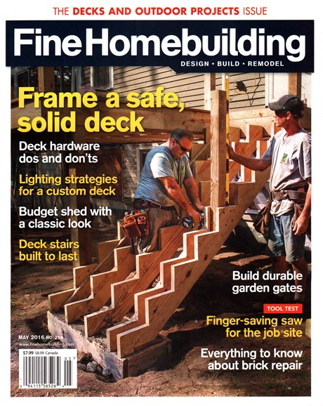 Fine Homebuilding Cover - 5/1/2016