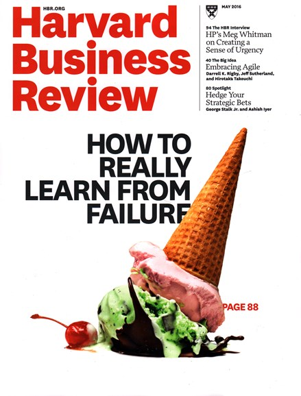 Harvard Business Review Cover - 5/1/2016