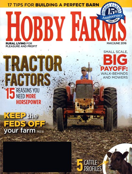 Hobby Farms Cover - 5/1/2016