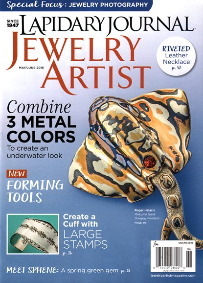 Lapidary Journal Jewelry Artist Cover - 5/1/2016