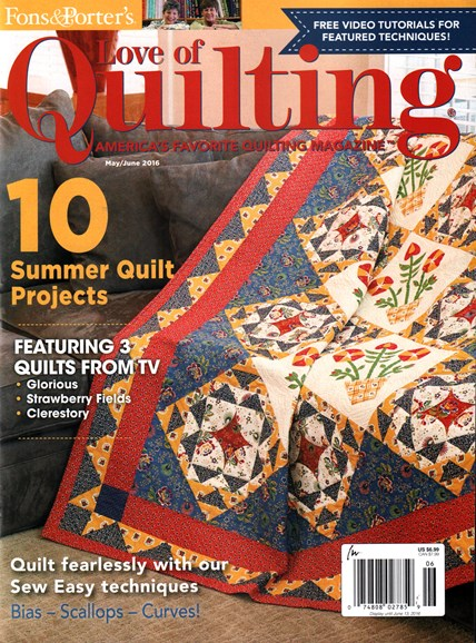 Fons & Porter's Love of Quilting Cover - 5/1/2016