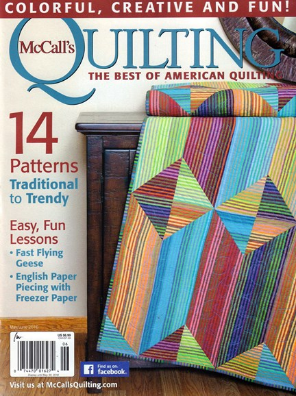 McCall's Quilting Cover - 5/1/2016