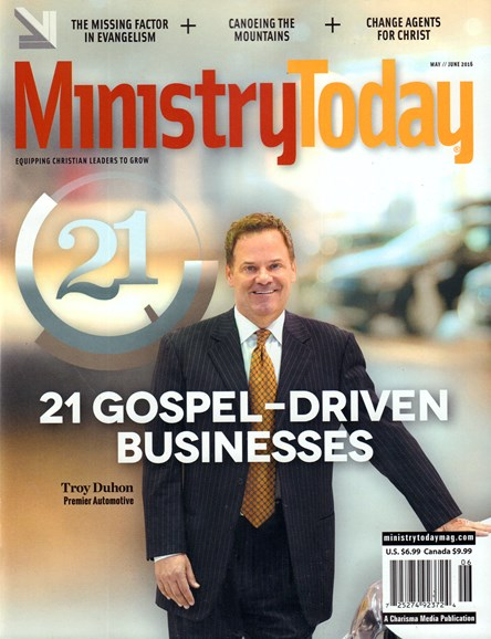 Ministry Today Cover - 5/1/2016