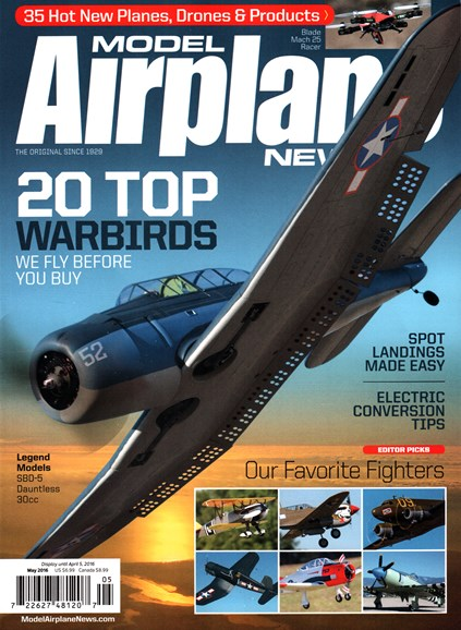 Model Airplane News Cover - 5/1/2016