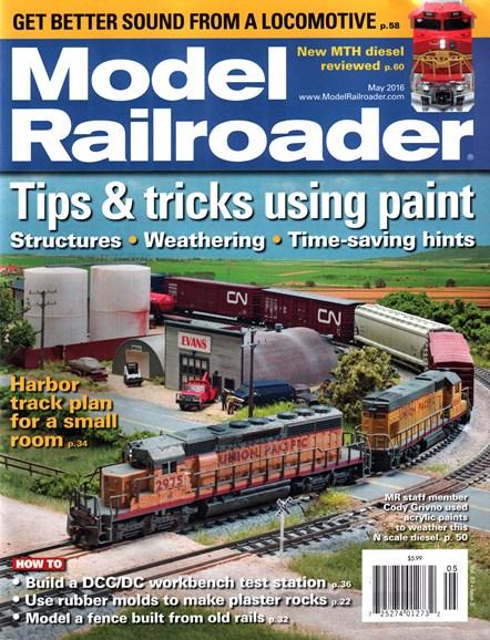 Model Railroader Cover - 5/1/2016