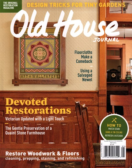 Old House Journal Cover - 5/1/2016