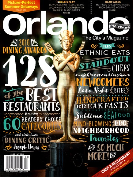 Orlando Magazine Cover - 5/1/2016