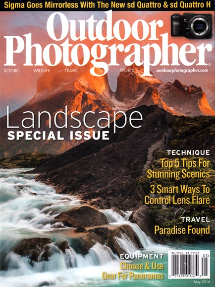 Outdoor Photographer Cover - 5/1/2016