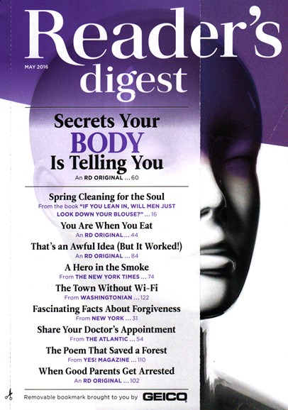 Reader's Digest Cover - 5/1/2016