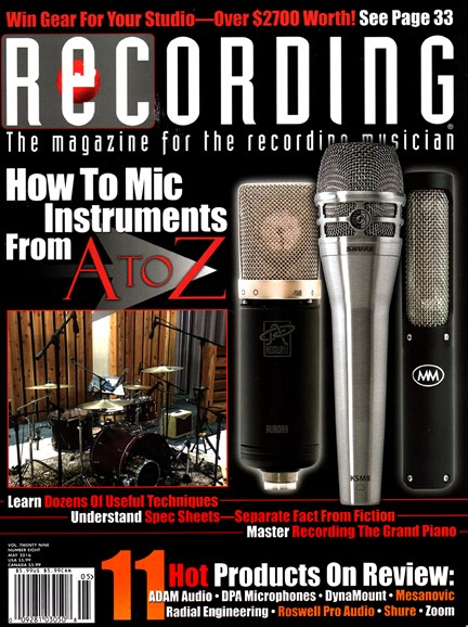 Recording Magazine Cover - 5/1/2016