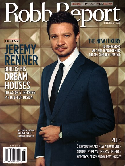 Robb Report Cover - 5/1/2016