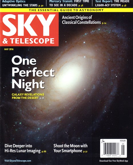 Sky & Telescope Cover - 5/1/2016