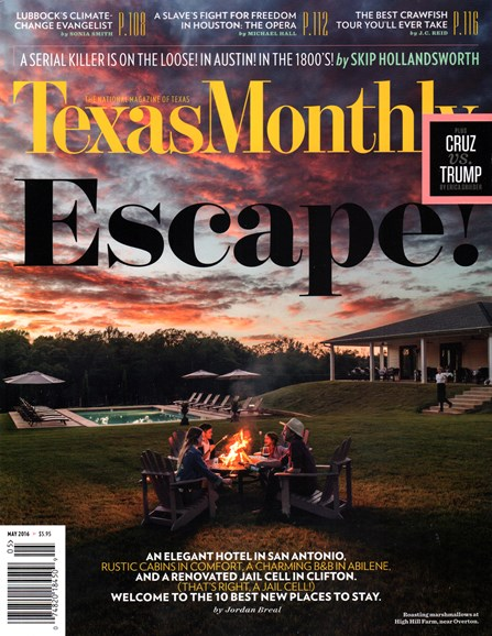 Texas Monthly Cover - 5/1/2016